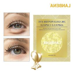 LANBENA 24K Gold Peptide Wrinkles Eye Ampoule Capsule Eye Se