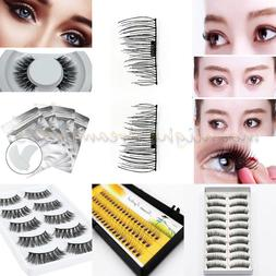 3D Natural Long Fake Black Eye Lashes Handmade Thick False E