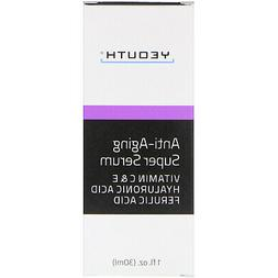 Anti-aging Super Serum, Ferulic Acid, Vitamin C, Vitamin E,