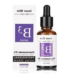 Facial Serum, Pure 5% Niacinamide Vitamin E & Hyaluronic aci