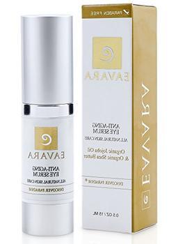 Organic Award Winning Natural Anti Aging Eye Serum   Organic