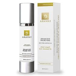 Organic Daily Facial Moisturizer Day Cream with Collagen Pep