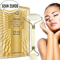 Rejuvenator Anti Aging Jade Roller Facial Massager PLUS Rich