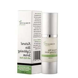 Skin Lightening Serum by Pureauty Naturals with Kojic Acid -
