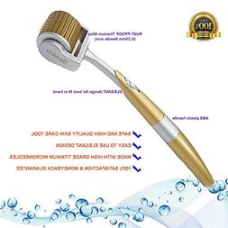 The Adelie 192-Pin-Titanium Gold SKin Care Derma Roller