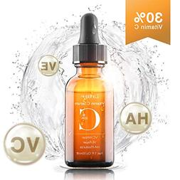 Upgraded 30% Vitamin C Serum with Hyaluronic Acid and Vit E,