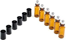 5ml Amber Glass Roll on Refillable Bottles Sample Vial with