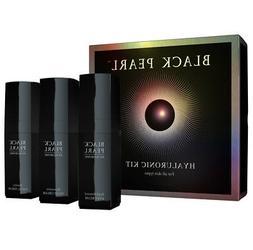 BLACK PEARL Kit  Hyaluronit, Facial Serum+Night Cream+Eye cr