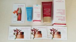 Clarins Day Cream, Night Cream, Eye Mask, and Serum