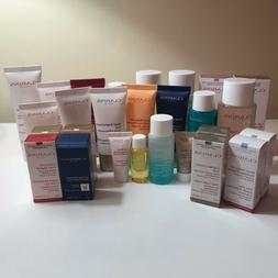 Clarins Deluxe Samples Cream,Serum,Tonic,Scrub,Moisturizer,e