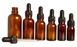 Lot Of 12 Empty Amber Glass Eye Dropper Bottles Wholesale Es