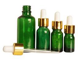 Lot Of 100 Empty Green Glass Eye Dropper Bottles Aromatherap