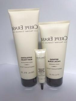 Crepe Erase Complex Body Polish+Facial Scrub+Firming Eye Ser