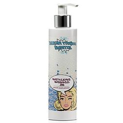 exfoliating cleanser washes away pore