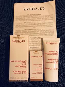 Clarins Extra Firming Day Cream SPF 15 +Body Lotion +Eye Yeu
