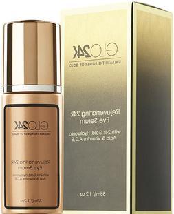 GLO24K Eye Serum with 24k Gold, Hyaluronic Acid, & Vitamins