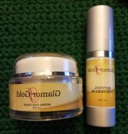 Glamor Gold Ageless Eye Serum 1oz & GLAMOR GOLD FACE CREAM 1