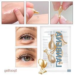 Tfan 5 Grain/set 24K Gold Peptide Wrinkles Eye Ampoule Capsu