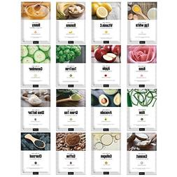 Green Grade Cupra Facial Sheet Masks Variety Pack Featuring