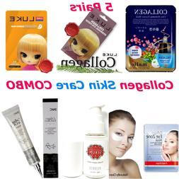 Collagen Facial Serum Cream Eye Patch Mask Foam Cleansing