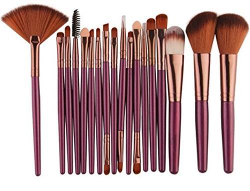 18 piece makeup brushes set powder eye