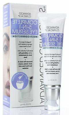 Advanced Clinicals 5-in-1 Multi Correction Eye Serum 2 oz /