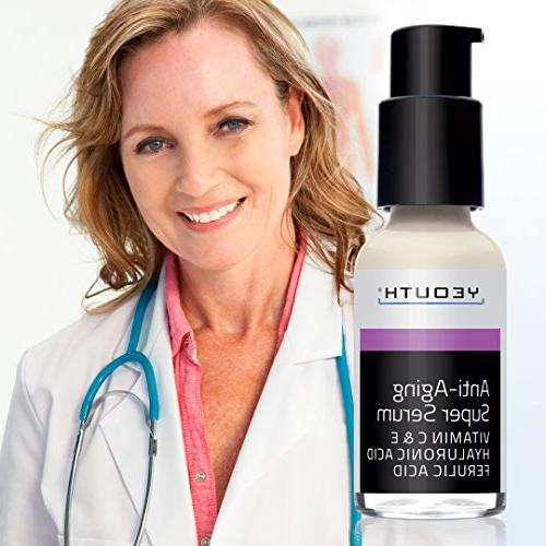 Anti-aging Ferulic Acid, C, YEOUTH. Night Cream Day Cream. Cream Reduces Signs Of Aging, Unscented