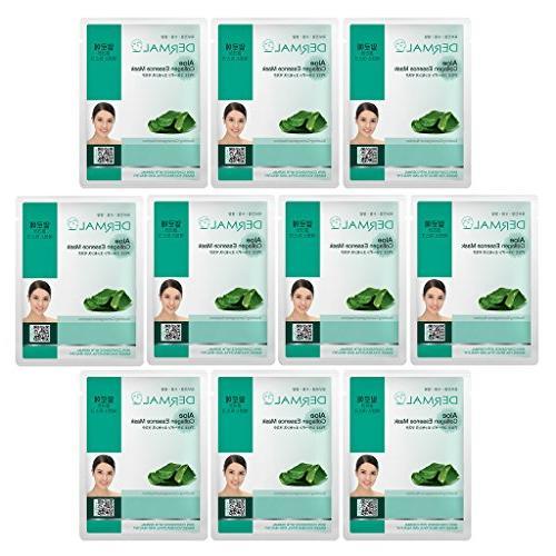 DERMAL Aloe Collagen Essence Facial Mask Sheet 23g Pack of 1