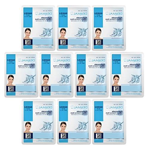 DERMAL Hyaluronate Collagen Essence Facial Mask Sheet 23g Pa