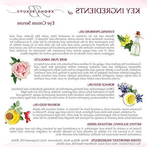 Eye Anti - Eye Cream Serum Reduces Eye Dark Puffiness Cruelty Free, Sunflower Vitamin Antioxidant, Gluten Free, Wrinkles