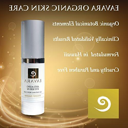 Organic Winning Anti Eye Serum | Jojoba Best Eye Skin Care & Solution for Reducing Dark Circles, Fine Wrinkles Hyaluronic