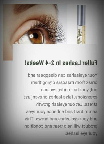 All Natural Eyelash Serum w Cells Thicker Longer