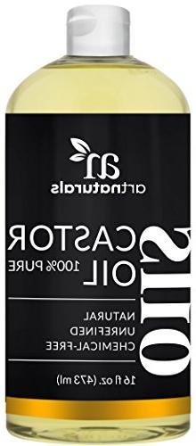 ArtNaturals Pure Organic Castor Oil -  - Massage Oil & Moist