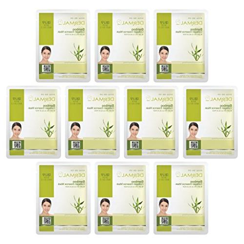 bamboo collagen essence facial mask