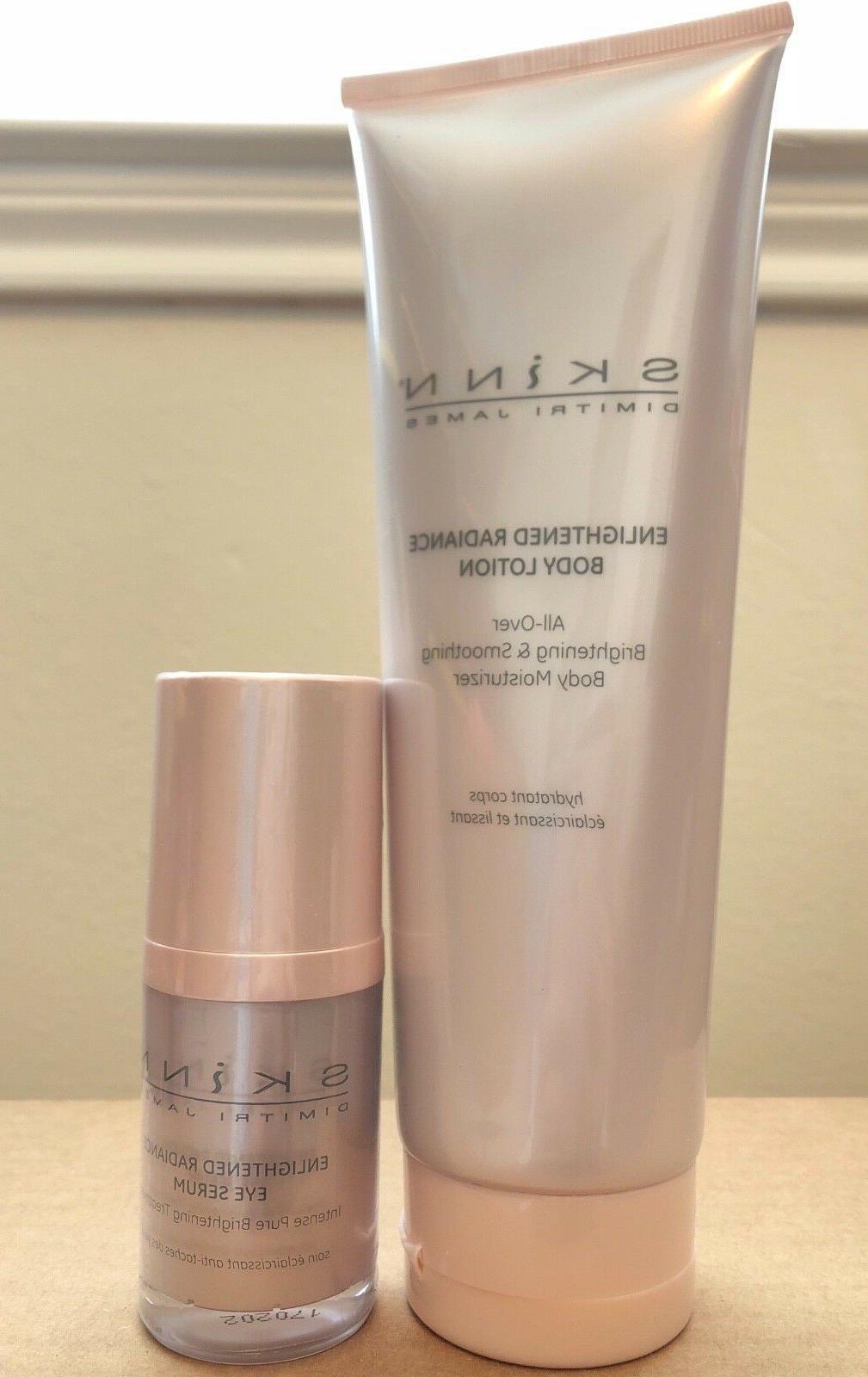 Skinn Enlightened Radiance Eye Serum & Body Lotion Duo - New