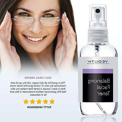 YEOUTH Facial Face Prep, Tone, Skin Pore Mild Astringent, Face Cleanser, Serum,