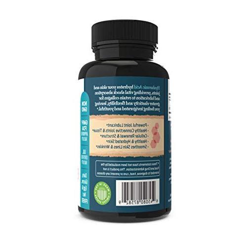 Hyaluronic 100 - 120 Vegetable Bones Formula - Aging Healthy Skin, Hair Eyes –