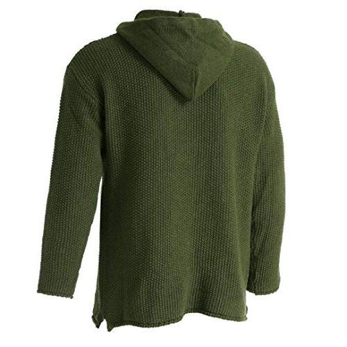 kaifongfu Sweater Top,Ripped Hole Knitted Sweater GreenL