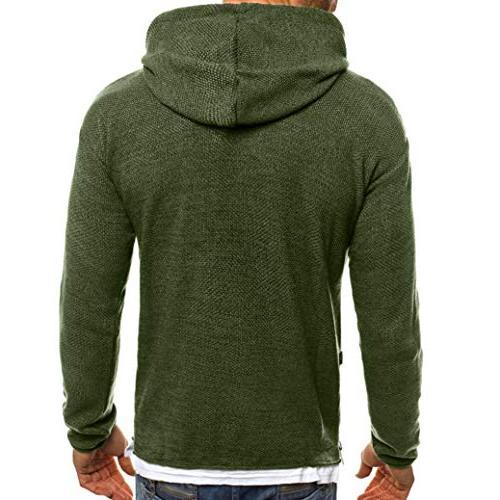 kaifongfu Sweater Hole Knitted Sweater Blouse GreenL