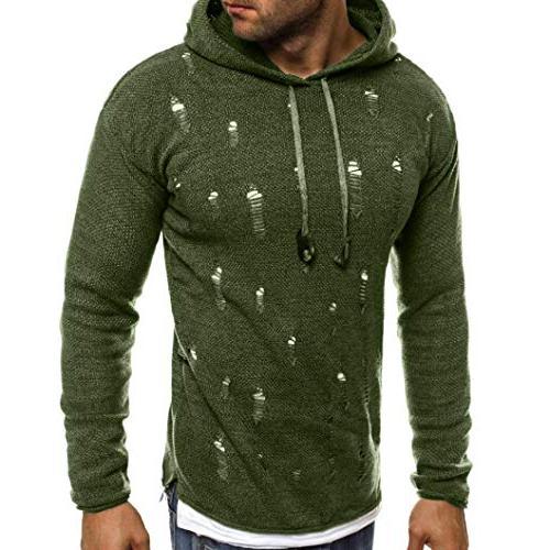 kaifongfu Hole Sweater Blouse GreenL