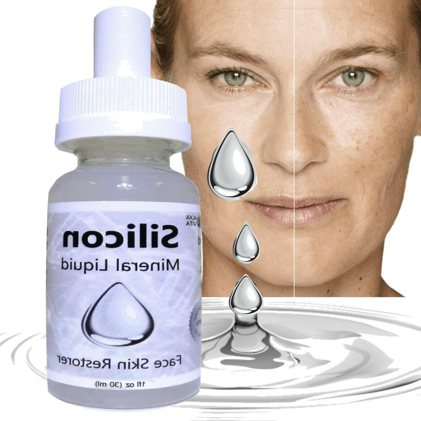 mineral silicon serum gel skin renewal facial