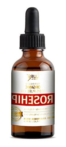 Organic Rosehip Seed Oil - Cold Pressed, Unrefined, Virgin A