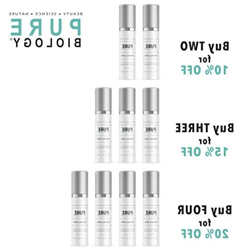 Premium Total Eye E, Hyaluronic Acid & Anti Complexes to Reduce Dark & Lines for Men Women