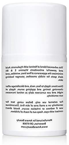 Retinol Cream for 2.5% with & Vitamins E & B5, 1.7 fl. oz.