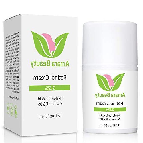 Retinol Cream for 2.5% & Vitamins E & B5,