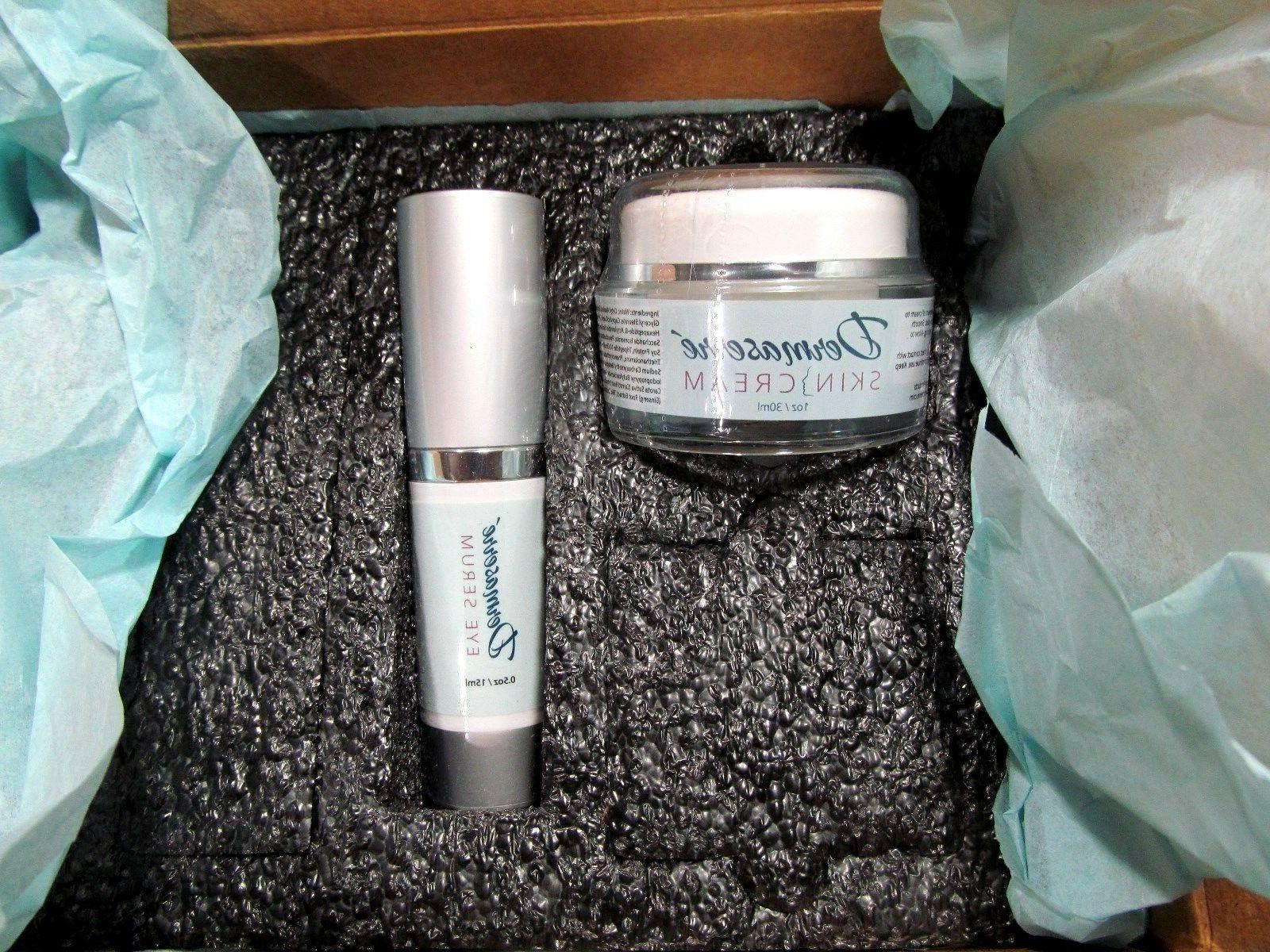 skin face cream 1oz and eye serum