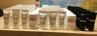 skincare sample cleanser lotion serum eye balm