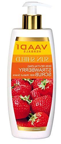 Strawberry Scrub Moisturizing Lotion With Walnut Grains - Li