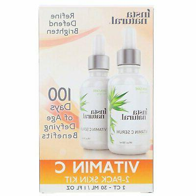 vitamin c serum 2 pack skin kit