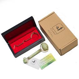 Luxury Jade Roller with BONUS wood storage box | 100% Natura